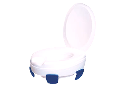Toilet heightening seat, model Clipper III, increases height of every toilet 11 cm,  with lid, bearing capacity 185 kg