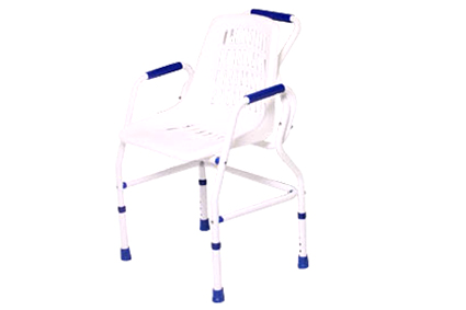 Shower seat, with anti-slip seat legs, aluminum, height adjustable between 48-58 cm