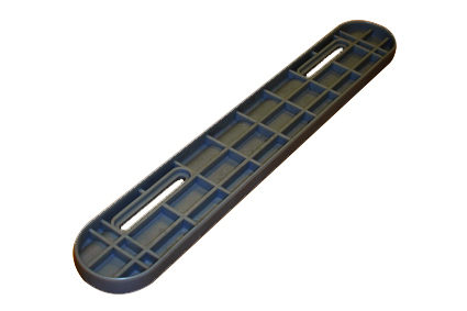 Arm rest shell plastic, black, slit hole 200-250 mm, for arm rest A.IP.AP.1001 and  A.IP.AP.1003