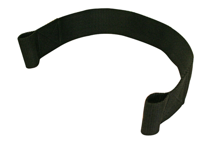 Calf strap. 50x500 mm, with 2x loop 30 mm, black