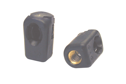 Ball socket for angle joint, type B46, for joint 10 mm, plastic with insert brass M6