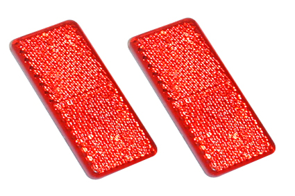 Reflector, red, 85 x 35 mm, self adhesive