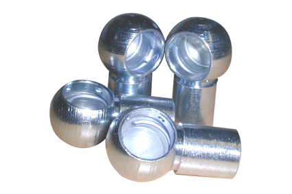 Ball socket for angle joint, B16x30-M10, form B, DIN 71803, sink plated