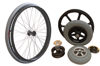 Wheelchair wheels and accessories