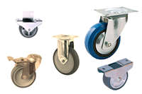 Transport wheels and castors