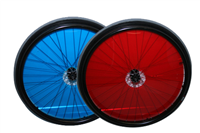 Coloured clear spoke guards